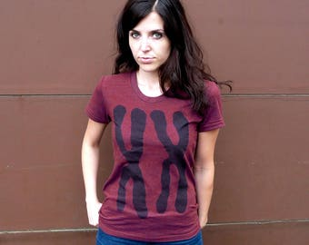 Womens Chromosomes XX DNA Tshirt - funny back to school tshirt - gift for nurse - womens graphic tee - teen girl power - first day school