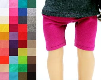 Fits like American Girl Doll Clothes - Bike Shorts, You Choose Color