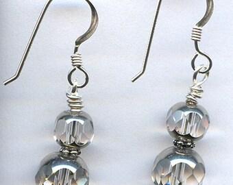 Crystal Silver Sterling Silver Earrings