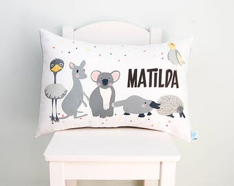 Australian Animals Kids Personalised Cushion