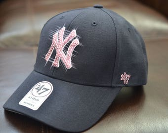Bling Bling Customized New York Yankees Cap With Swarovski Crystals