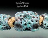 Beads of Passion by Leah Deeb - Unique Moon Rock BHB Lampwork Beads