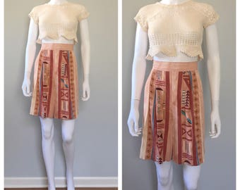 Vintage tribal print shorts Highwaist shorts