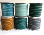 "Velvet ribbon 1cm, 3/8"" width / sewing Ribbon / floral Ribbon / Wedding Ribbons / Wholesale ribbon / 33 yard spool, over 80 colours"