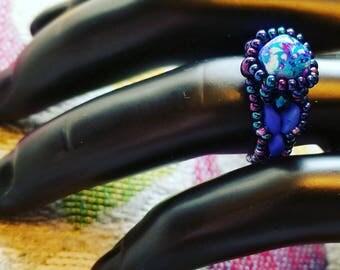 Purplekush Splattered Statement Ring