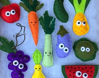 Little Fruits and Veggie Magnets