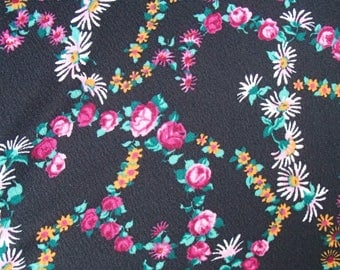 vintage fabric / polyester / original 60s / rose / skirt / dress