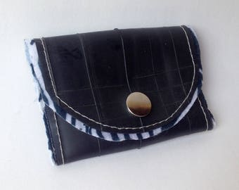 Zebra print upcycled wallet
