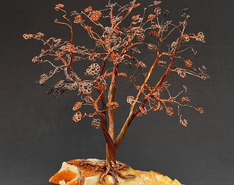 Hand Twisted Metal Copper Wire Tree Art Sculpture  - 2302 - FREE SHIPPING