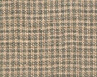 Homespun Fabric | Small Check Fabric | Sage Green And Natural Check Fabric |  Cotton Quilt Fabric | Sewing Fabric | Craft Fabric | 1 Yard