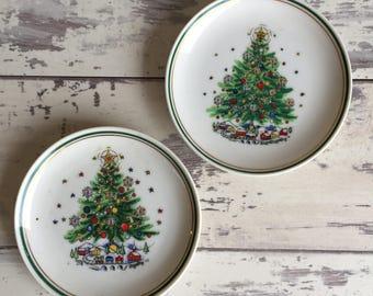 Vintage Salem Christmas Eve Coasters -Fine Porcelain Holiday