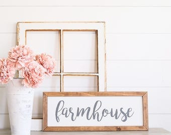 FARMHOUSE Farmhouse Style Rustic Wood Sign, Handmade, Inspirational Quote, Shabby Chic