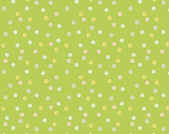 ON SALE Riley Blake Designs Sweet Orchard Dot Green