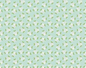 20%OFF Riley Blake Designs Garden Girl by Zoe Pearn - Posies Mint
