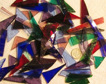 Scrap Stained Glass 3 lbs. - Small Transluscent - Small Flat Rate Box Full