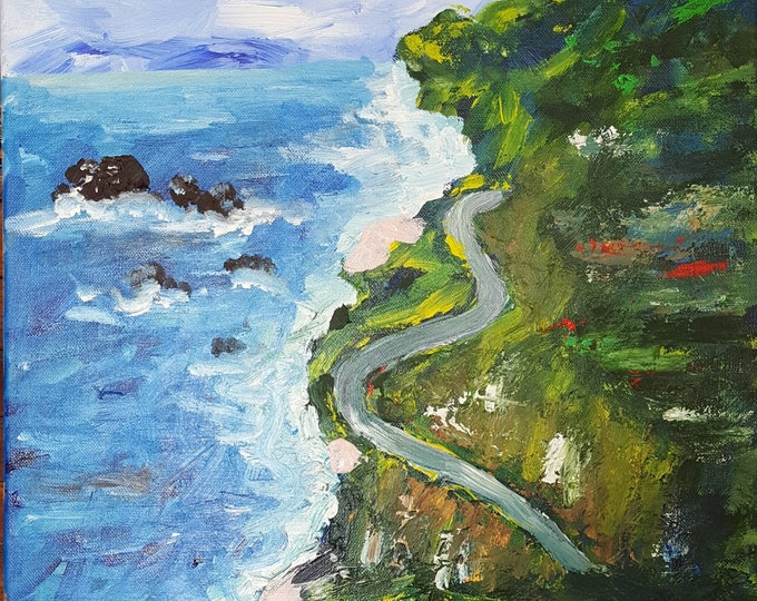Pacific Coast Highway Original 16x20in