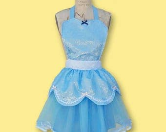 CINDERELLA costume APRON,  Princess costume  apron, CINDERELLA tutu apron,  Cinderella dress up, cosplay costume, running costume