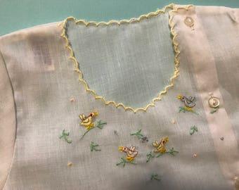 Vintage Diaper Shirt, Newborn Diaper Shirt, Baby Diaper Shirt, Unisex Baby Clothing, Duck Diaper Pins
