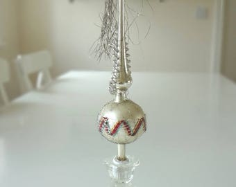 Christmas Tree Topper Vintage Glass Topper Spike Point - EnglishPreserves