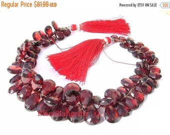 50% Off Sale 1/2 Strand 34 Pieces AAA Pyrope Garnet Faceted Pear Shaped Briolettes 9x6 - 7x5mm approx