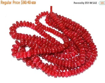 50% Off Sale 17 Inches Finest Quality Ruby Red Quartz Carved Melon Beads Size 8-12mm approx  finest quality with great price