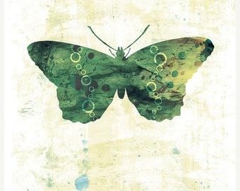 50% Off Summer Sale - Butterfly Art - Jackie - Butterflies and Moths Series - 8x10