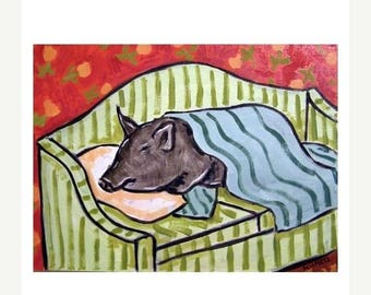 20% off storewide Pig Sleeping on a Couch Art Print