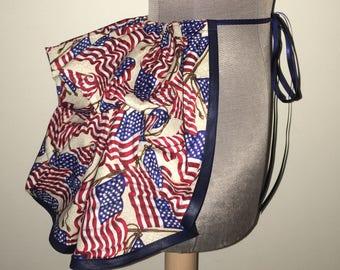 Half Price Sale - American Flag Patriotic Add a Mini Bustle Skirt by LoriAnn Costume Designs