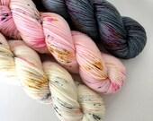 MEOW KIT - Hand Dyed Yarn - Signature Merino Nylon Sock Yarn Fingering - Ready to Ship - Vivid Yarn Studio