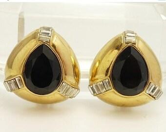Vintage Ciner Rhinestone Clip Earrings