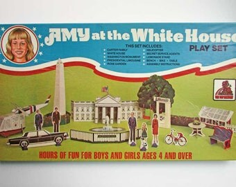 Amy at the White House Play Set 1970's Vintage Game, Set, Unused in Box, Carter Presidency Collector Set, Amy Carter Play Set, Toy Factory