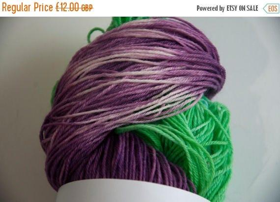 Christmas In July Hand-Dyed The Barney Twist Colourway Sock Yarn Superwash Wool/Nylon Tootsie Base