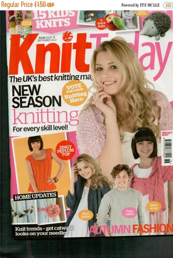 Christmas In July Knit Today Knitting Magazine Issue 76 September 2012