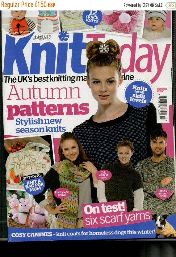 Christmas In July Knit Today Knitting Magazine Issue 77 October 2012