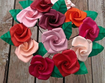 Origami roses - twisted