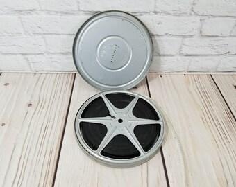 "Vintage 6"" 8mm Film Reel in Canister Home Movie"