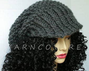 The OVERSIZED Brimmed Slouchy Hat / Stretch Satin Lining Option/LUXE VERSION