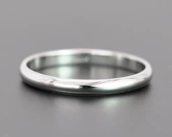 14K White Gold 2mm Classic Bridal Wedding Band