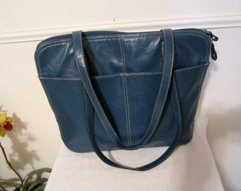 Large Blue Bag, Bueno Blue Bag, Carry-all Blue Bag, Blue Shoulder Bag, Large Blue Tote