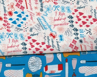 Clearance 3 Fat Quarters - Bake Julia Rothman Windham Fabrics Hard To find OOP