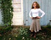 Reserved Balance//  Upcycled Cable Knit Sweater Skirt Altered Clothing Upcycled Recycled Taupe Brown emmevielle