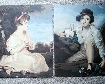 Vintage paint-by-number pictures - English Romanticism