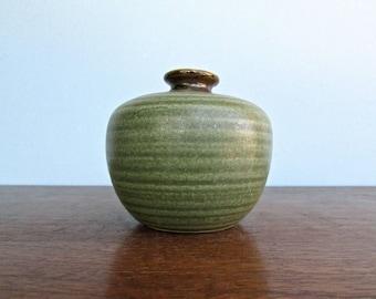 Vintage Napcoware Japan Green Textured Bud Vase or Weed Pot