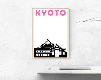 Kyoto Print // Japan Art // Japenese Print // Kyoto Poster // Kyoto Art // Japanese Gift // Japanese Art // Husband Gift // Wife Gift