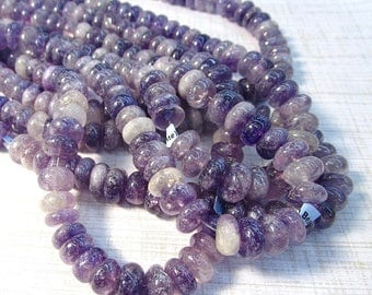 SALE 20% Off Mystic Amethyst Rondelle Beads 10mm, Natural Purple Gemstone Beads