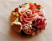 Strawberry cream violet buttercream orange blue daisy mix Roses Handmade millinery flower corsage hair bow supply