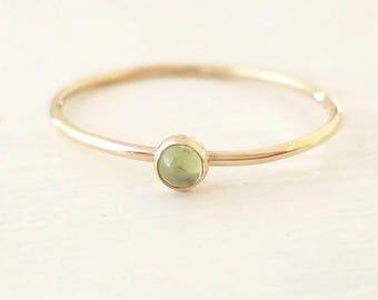 Gold Peridot Ring