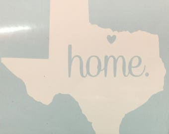 Texas Home Decal