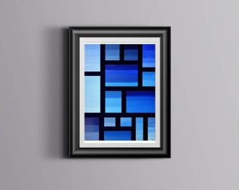 Singin' the Blues 8 x 10 wall art, print, painting, home wall decor, original art, gradient, graphic, bold, rectangle