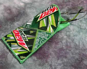 Reading Glasses/Sunglass Case from Recycled Mt Dew Soda Bottle Labels